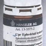 Ephedrinii hydrochlorid - 50mg Ephedrin HCL
